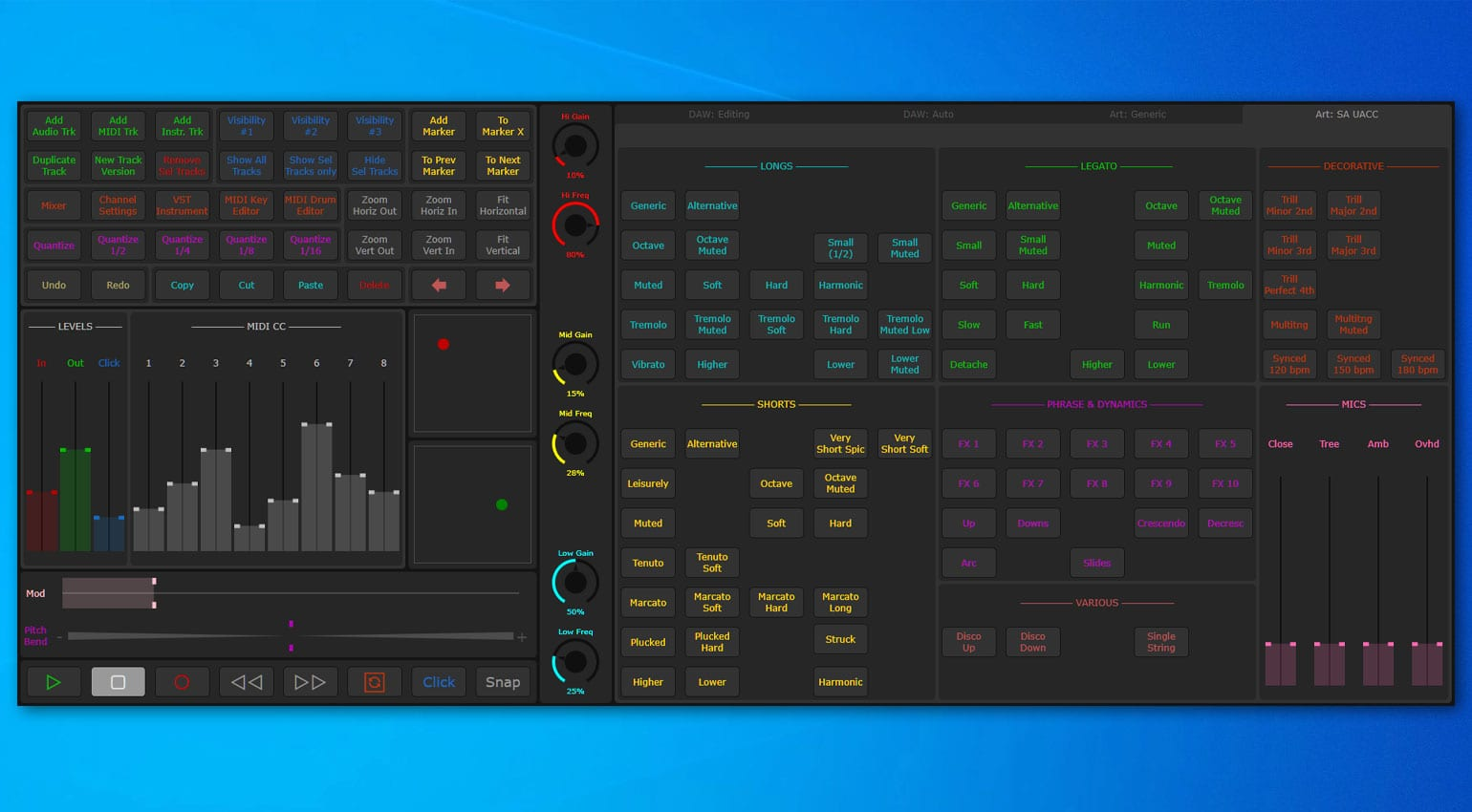 Aida Sound Symphony: Touch screen MIDI Controller for handling your whole studio