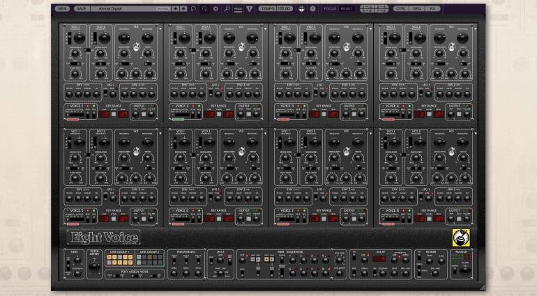 Cherry Audio Eight-Voice in black