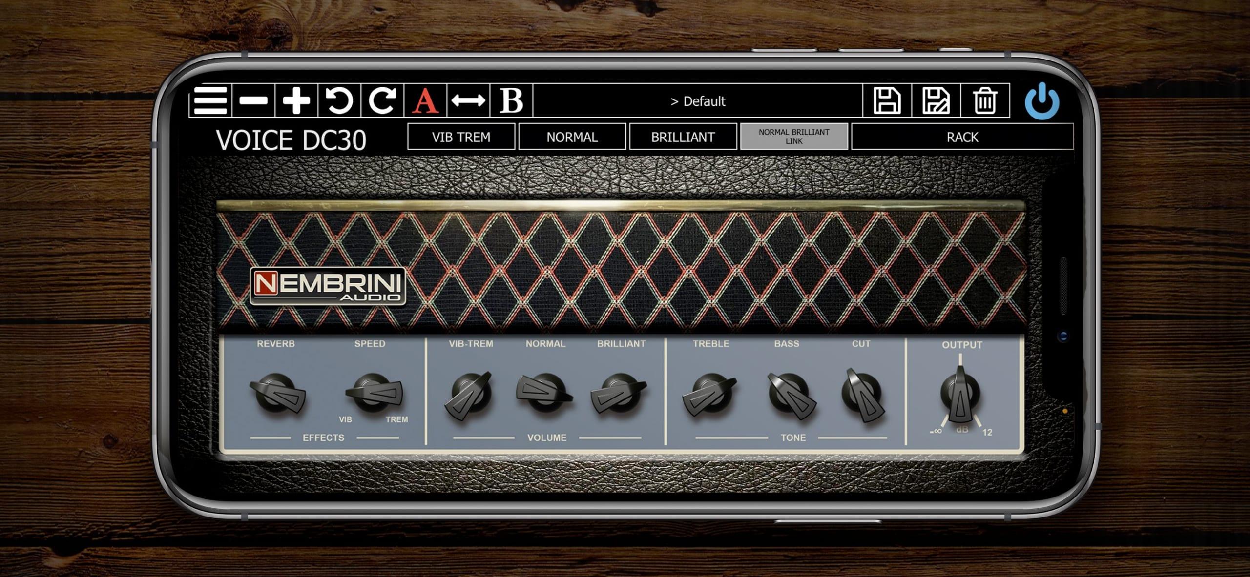 Nembrini Audio Voice DC30 Valve Guitar Amplifier iPhone:iPad Version