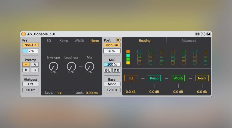 Sabroi AS Console: Get the sound of various mix consoles in Ableton Live