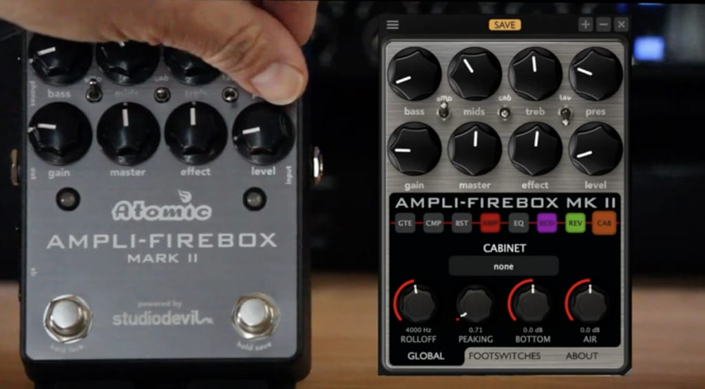 Atomic Amps Ampli-Firebox Mark II works with the app