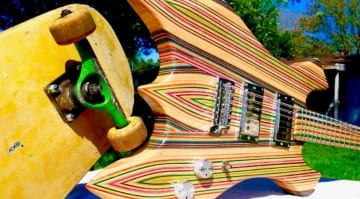 Burls Art Skateboard Guitar