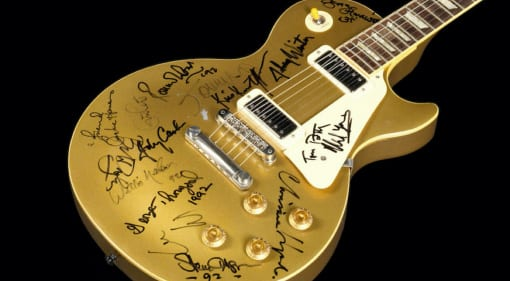 Gibson Les Paul Deluxe Goldtop Bob Dylan 30 anniversary signed