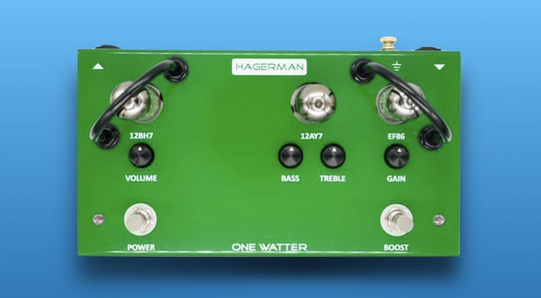 Hagerman Amplification One Watter - Tube pedal amplifier with a pure, clean tone