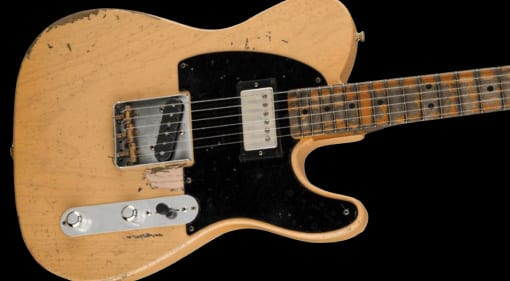 Joe Bonamassa's latest signature guitar, the Fender Custom Shop '51 Nocaster, The Bludgeon