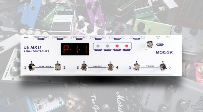 The Mooer L6 MKII Pedal Controller, keeps your stompboxes in order