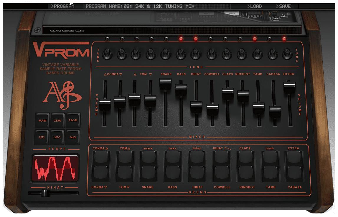 alyjameslab VProm GUI LinnDrum Emulation