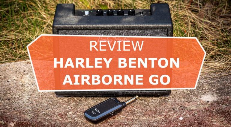harley benton airborne go wireless guitar amplifier with bluetooth