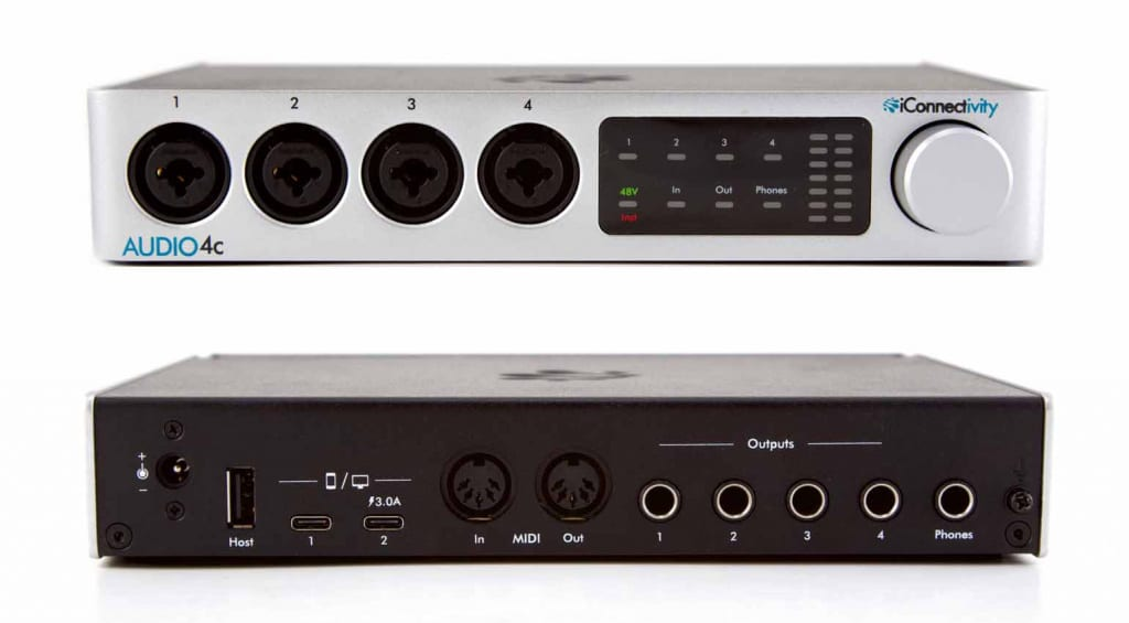 iConnectivity AUDIO4c front and rear