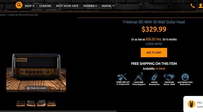 Friedman BE Mini 30 Watt guitar amplifier new