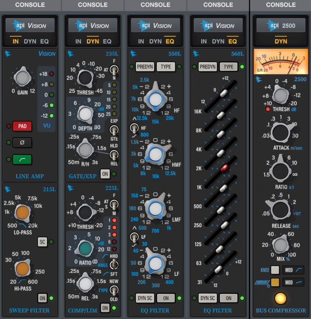 API Vision analog console bundle