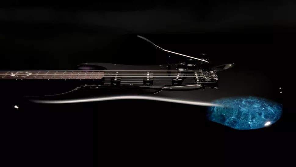 Fender Final Fantasy XIV Stratocaster with blue crystal