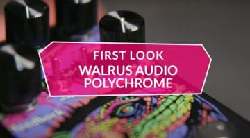 First Look Walrus Audio Polychrome Analogue Flanger