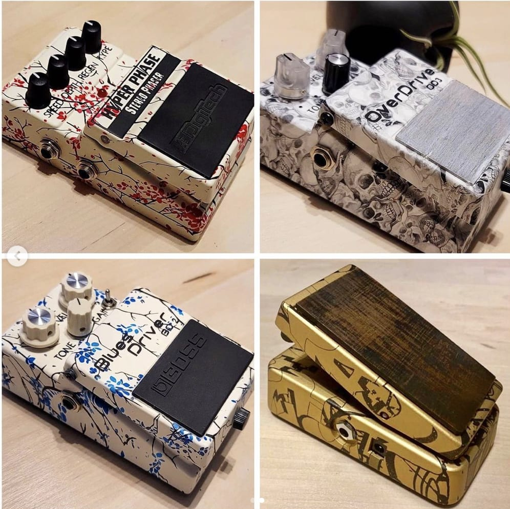 Gear Ant Custom Hand Painted pedals