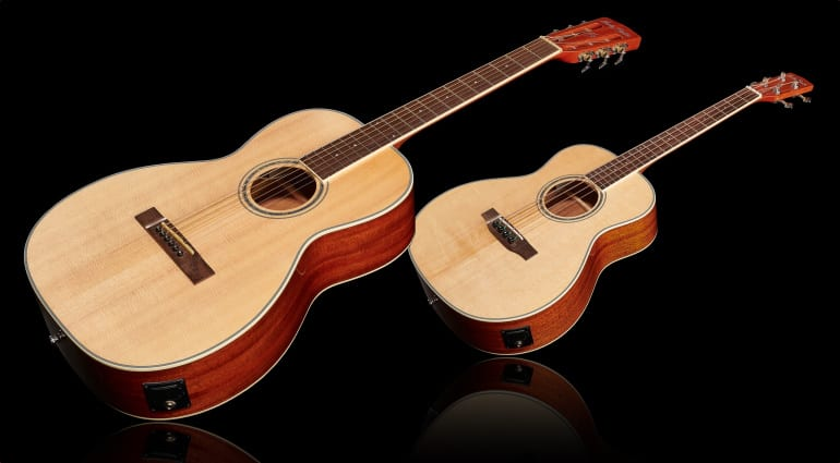 Harley Benton CLF-100E Parlor Acoustic & CLB-10SE Travel Bass