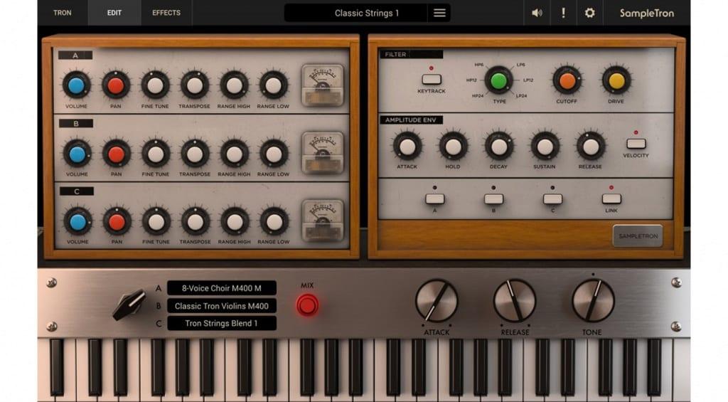 IK Multimedia SampleTron 2 synth editing
