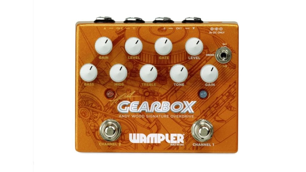 Wampler Andy Wood Gearbox Signature Overdrive with dual Inputs and Outputs