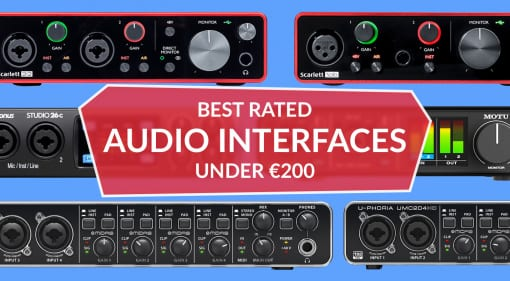Best rated audio interfaces under €200