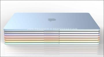 Leak: Apple M2 rainbow coloured MacBook Air