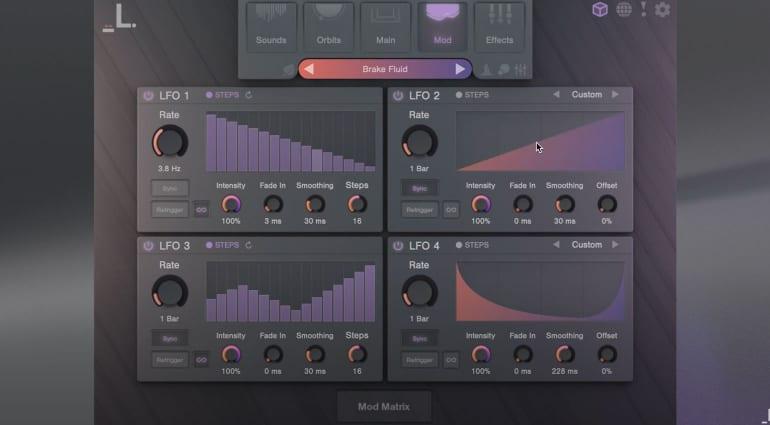 Lunacy Audio Cube modulation window