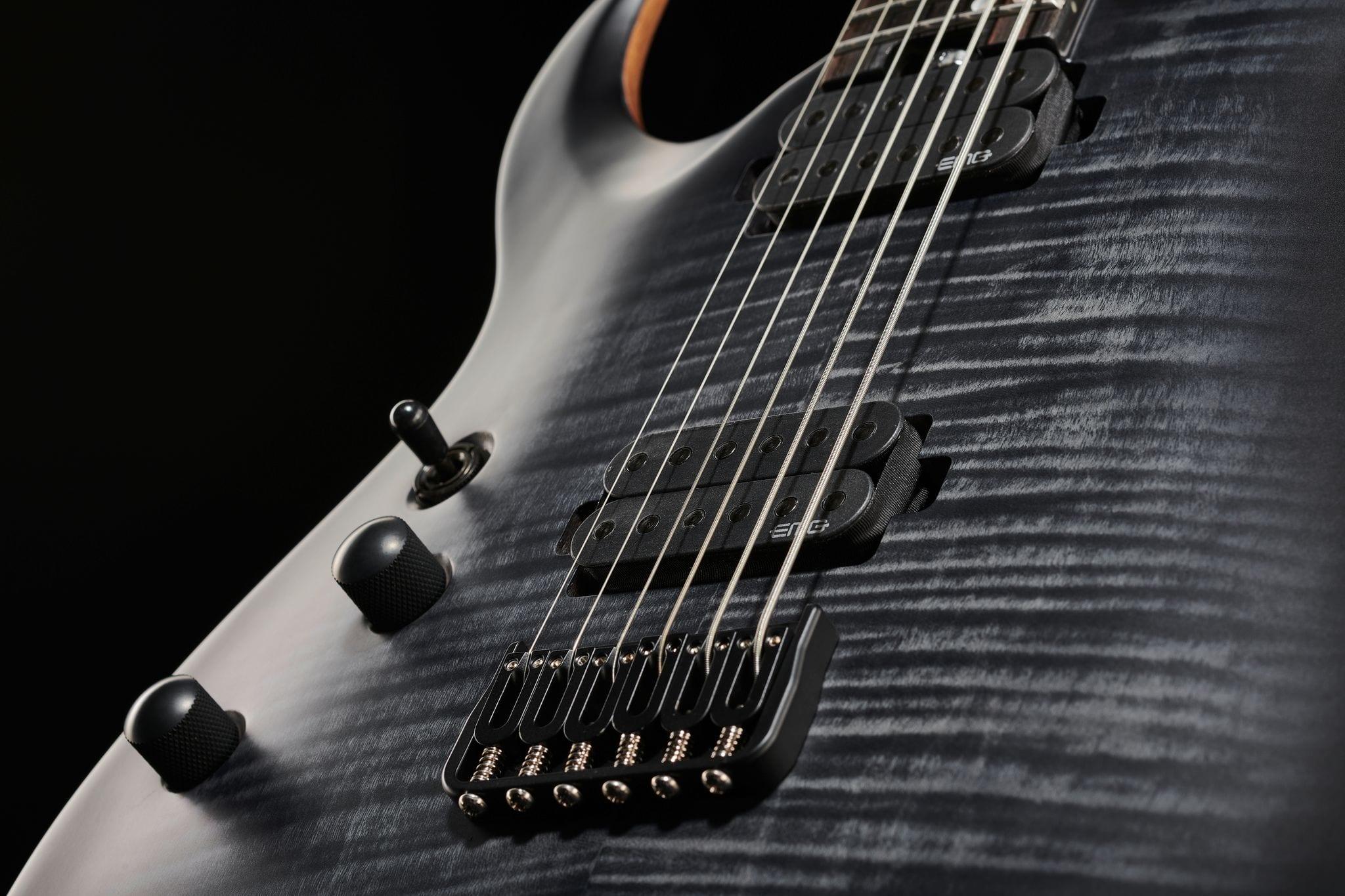 Amarok-BT LH is a baritone guitar with attitude and EMGs!