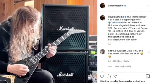 Dave Mustaine celebrates Memorial Day with his new signature Gibson Flying V