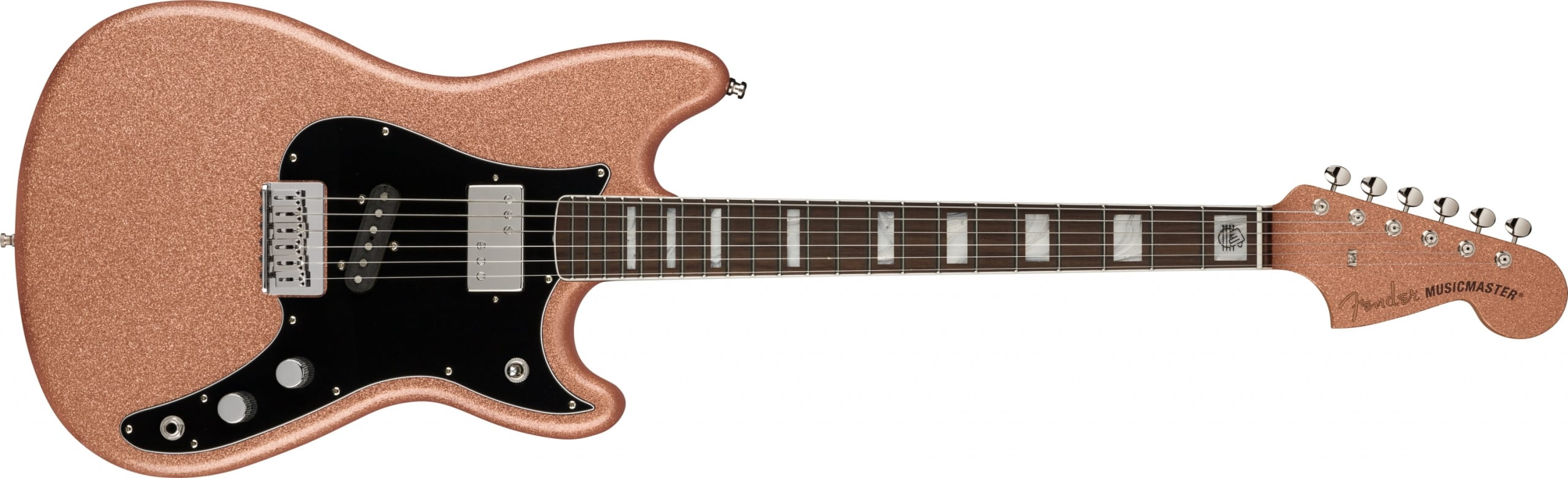 Fender Play Foundation Musicaster in Copper Sparkle by Dennis Galuszka