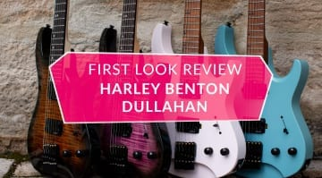 First Look Review Harley Benton Dullahan-FT 24 Roasted Headless guitar