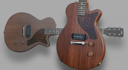 Grez Guitars Mendocino Junior crafted from 100-year-old reclaimed redwood
