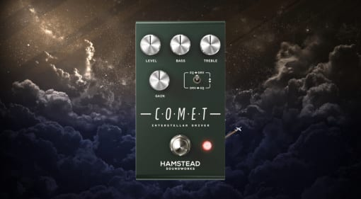 Hamstead Comet Interstellar Driver from preamp to all out fuzz in one pedal