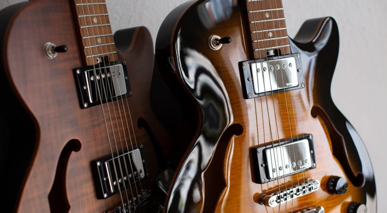 Harley Benton Aeolus Bengal Flame Frost Flame electric guitars