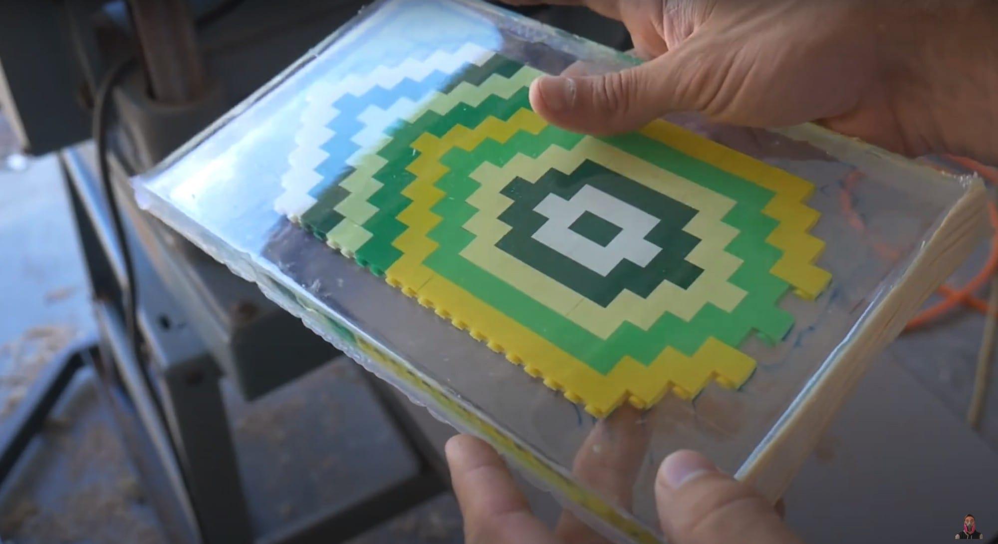 LEGO Veneer sealed in epoxy