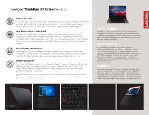 Thinkpad X1 Extreme Gen4 Specs 1