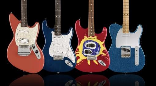 Fender Artist Series Kurt Cobain, J Mascis, Corey Wong and Screamadelica 30th