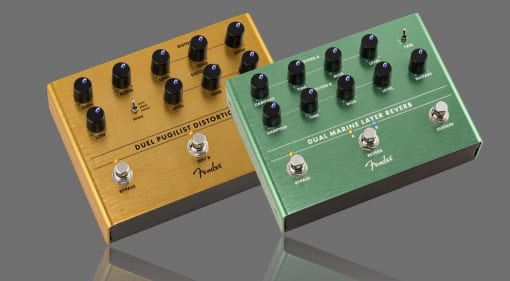 New Fender Duel Pugilist Distortion and Dual Marine Layer Reverb
