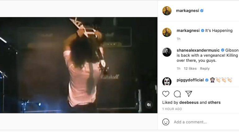 Gibson's Mark Agnesi teases Kirk Hammett Flying V signature model on Instagram