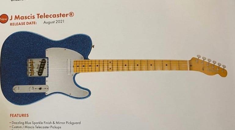 Leaked Fender J Mascis signature Telecaster