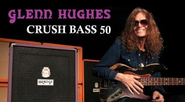 Orange Glenn Hughes Signature Model Crush Bass 50 'Deep Purple'