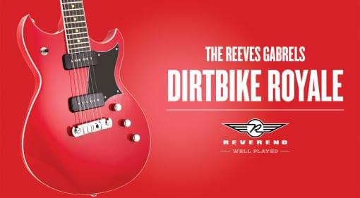 Reverend Guitars P-90 loaded Reeves Gabrels Dirtbike Royale