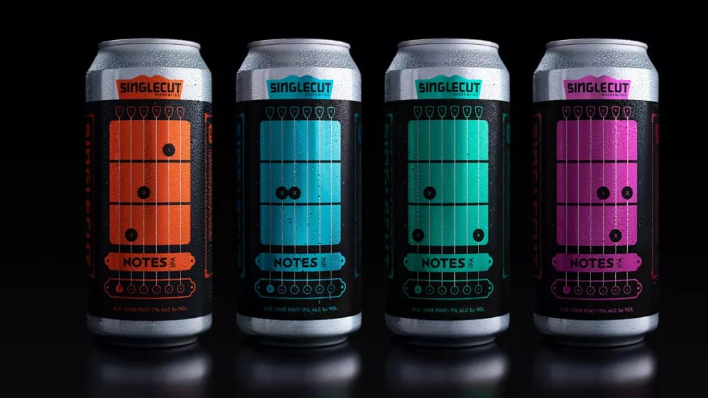 SingleCut Beersmiths Notes IPA C, E minor. G and D chords on your beers!