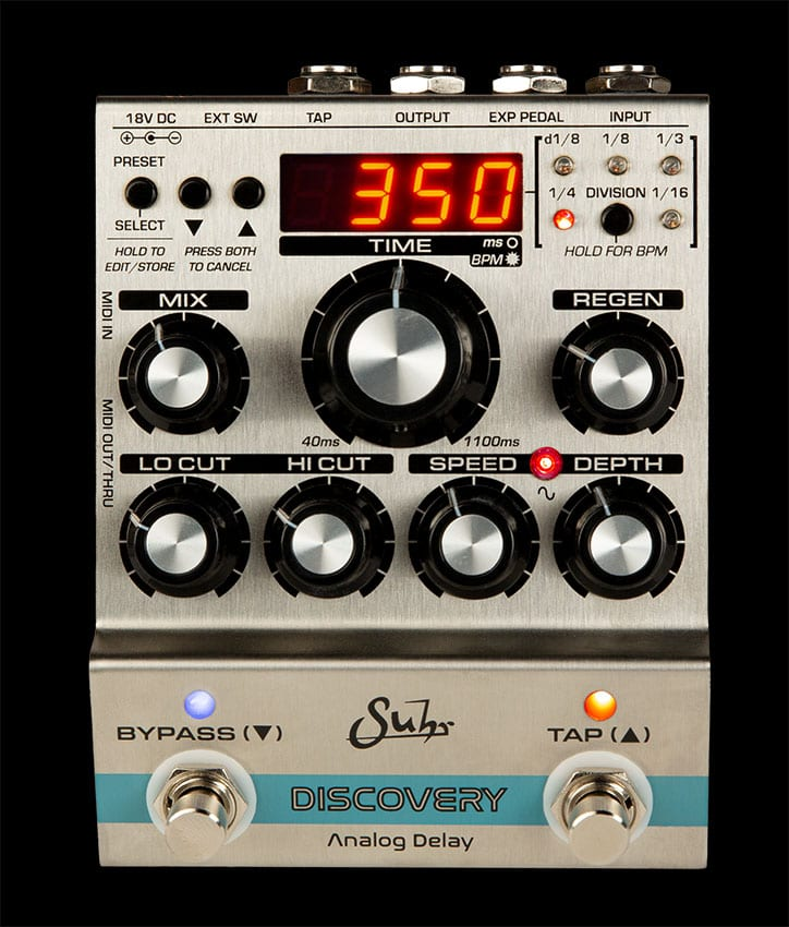Suhr Discovery Analog Delay front panel