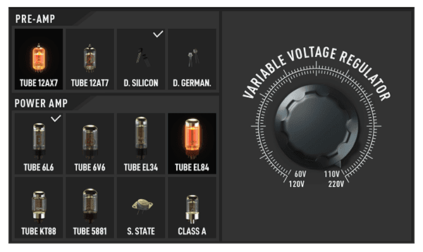 TH-U play with your tubes and their voltage, virtually!