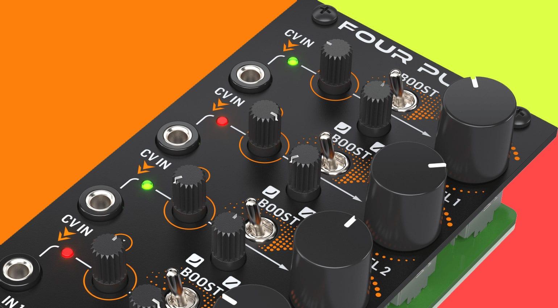 Behringer Four Play Cheekily Named Quad Vca Eurorack Module Gearnews Com
