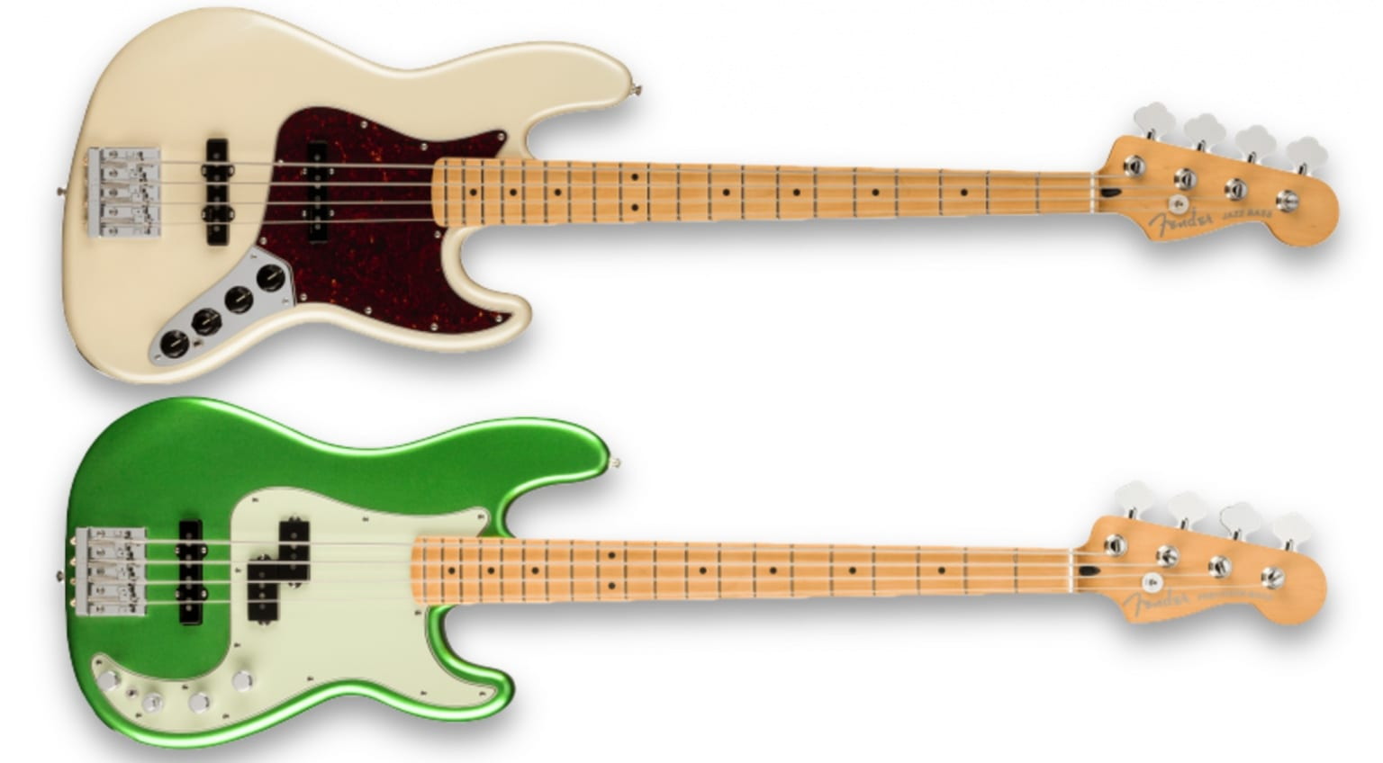 Jazz Bass & Precision Bass of the Player Plus Series