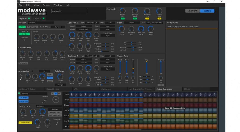 Modwave Software Editor