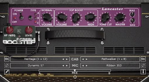 Kuassa Amplifikation Lancaster, three virtual AC30s