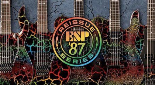 ESP LTD '87 Reissue Series Rainbow Crackle models