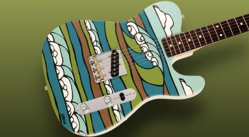 Fender Made in Japan Original Canvas Esquire Heather Brown