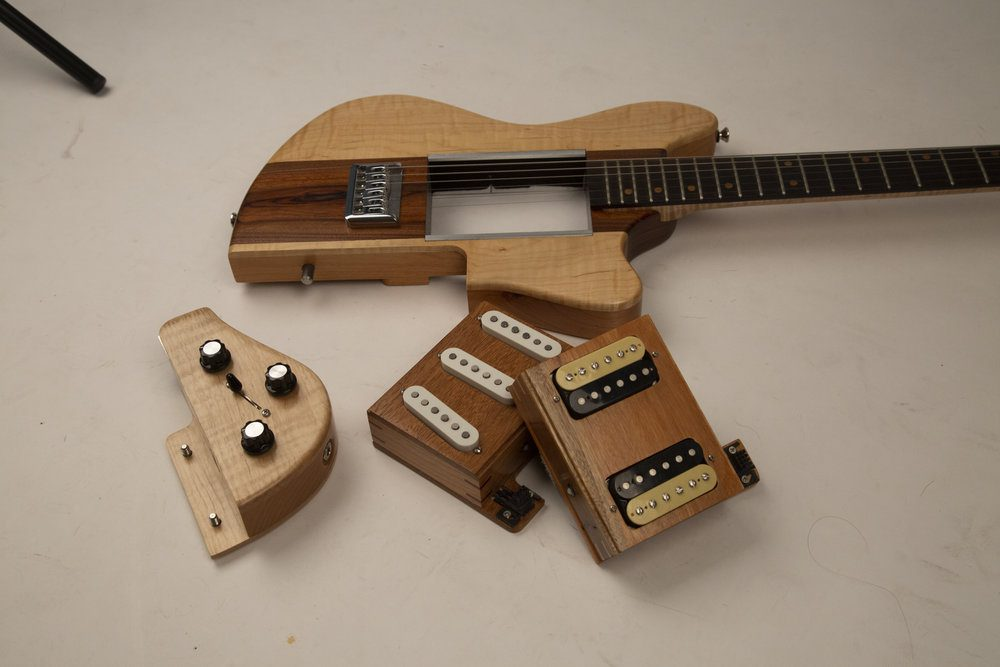Reddick Guitars Voyager Modular Guitar with pickup modules