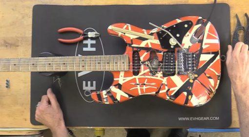 Watch Eddie Van Halen's Guitar Tech Tom Weber set up a Frankie!